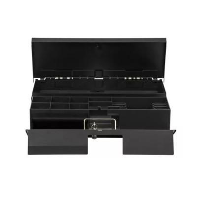 Денежный ящик АТОЛ FlipTop-B черный, 24V, крышка для инкассации, для Штрих-ФР